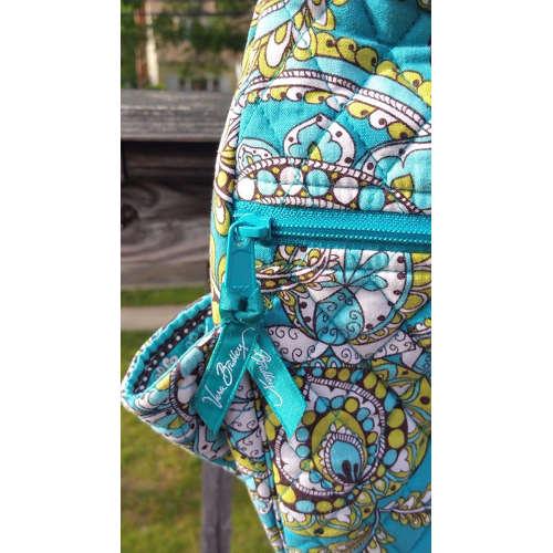 Vera Bradley Crossbody Quilted Shoulder Bag Peacock Pattern~Retired tag