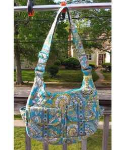 Vera Bradley Crossbody Quilted Shoulder Bag Peacock Pattern~Retired.