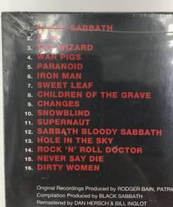 BLACK SABBATH CD - GREATEST HITS 1970-1978 (2006) tracklist