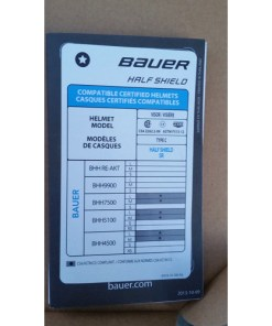 Bauer RBE 1 Certified Ice Hockey Helmet Clear Half Shield Fits Most Brands content