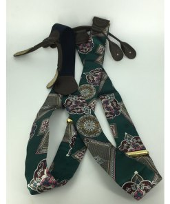 CAS GERMANY FLORAL ART SILK SUSPENDERS BRACES