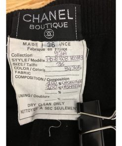 CHANEL BOUTIQUE 100% CASHMERE Logos Tights Sz 36. Style P02208 label