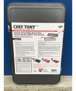 CHEF TONY NON-STICK GREASE-AWAY MEGA BACON PAN 0818847014186 back