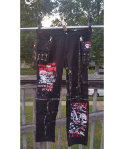 GLP UNISEX INDUSTRIAL EMO GOTHIC BONDAGE Punk Rock PANTS Black X-LARGE