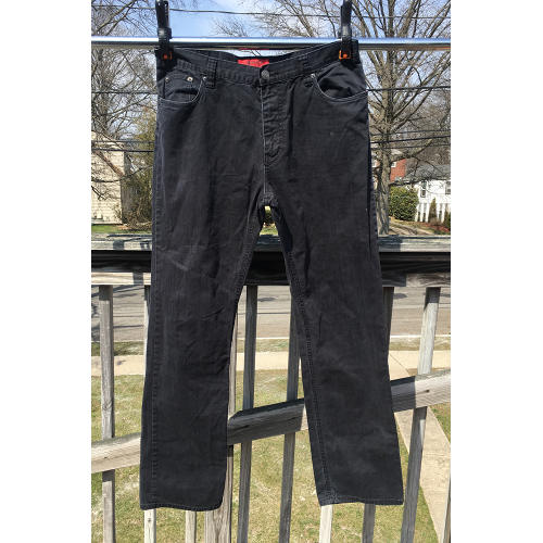HUGO BOSS Red Label Stretch Black Straight Jeans Size 34:34