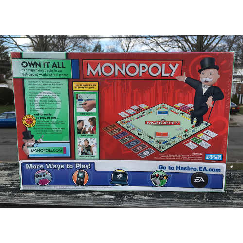 Hasbro Gaming Monopoly Speed Die Edition 2-8 Player Age 8+ back 653569351467
