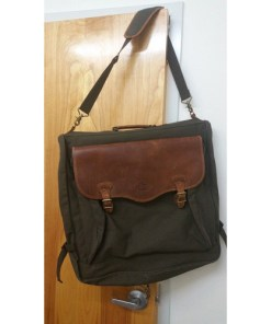 High Sierra Leather & Canvas Garment Bag . Leather Canvas