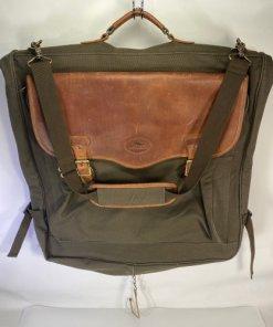 High Sierra Leather & Canvas Garment Travel Weekender Carry on Bag