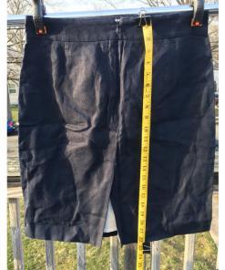 J Crew Baird McNutt 100% Linen Skirt Size 8 Blue Womens measured
