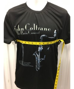 John Coltrane The Paris Concert Album Cover T-Shirt Sz length