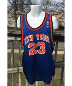 New York Knicks Marcus Camby NBA Jersey 2xl Champion Vintage 52 Size 2xl