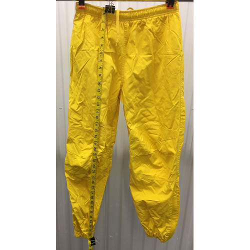 Polo Sport Track Pants Mens S Joggers Yellow 90s Ralph Lauren Zip Bottom length