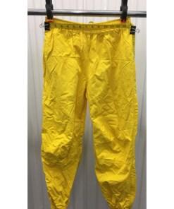 Polo Sport Track Pants Mens S Joggers Yellow 90s Ralph Lauren Zip Bottom waist