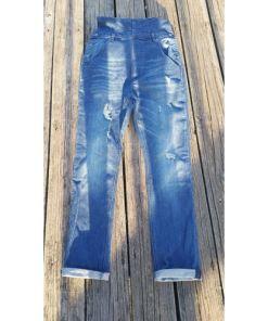 S.P.C.C DENIM BLUE OVERALLS UNISEX SZ 30 bottom