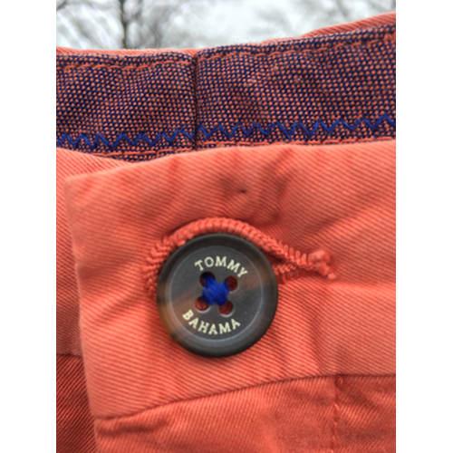 Tommy Bahama Shorts Mens 38 Flat Front Pumpkin Orange button