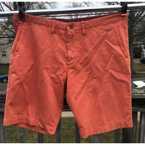 Tommy Bahama Shorts Mens 38 Flat Front Pumpkin Orange