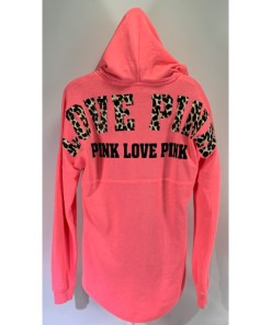 Victoria's Secret Love Pink dog full zip hoodie Animal print