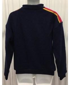Vintage 90s SOS Black Retro Ski Sweater Size Medium Sportswear of Sweden Wool back