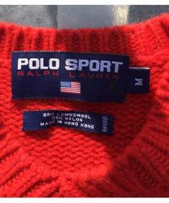 polo sport knitted sweater size M tag