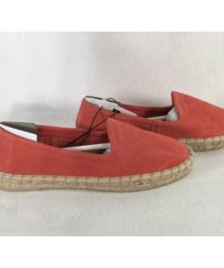 gap pink suede loafers espadrilles