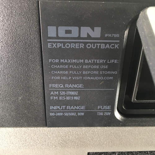 Refurbished  Ion Explorer Outback Wireless Rechargeable Speaker