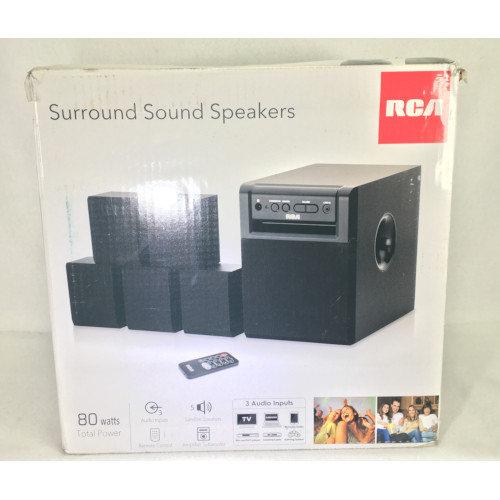 rca 80 watt home theater speaker