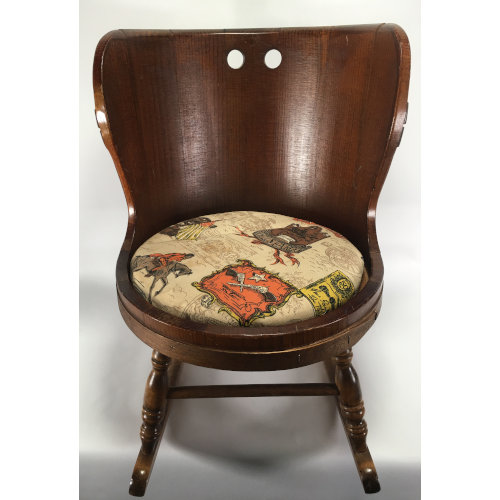 LANE Company Child's Wood Barrel Rocking Chair
