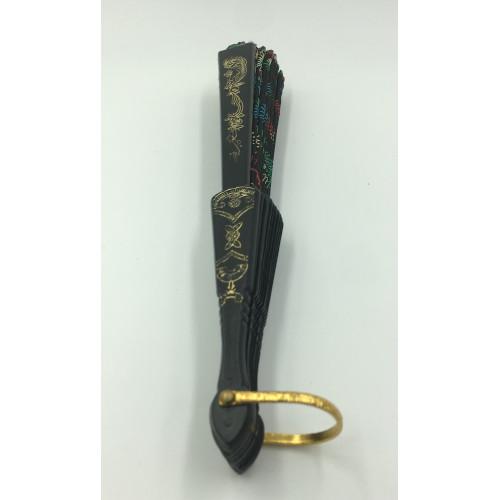 Asian Embroidery Cloth Fabric Plastic Folding Hand Fan