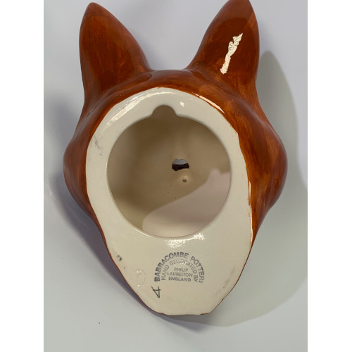 Babbacombe Fox Head Wall Mount String Holder - England