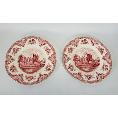 Johnson Bros. Pink Old Britain Castles Blarney Castle in 1792