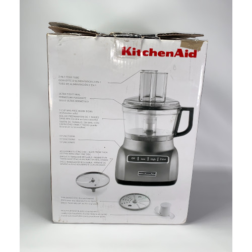 KitchenAid KFP0711CU Food Processor, 7 Cup, Contour Silver