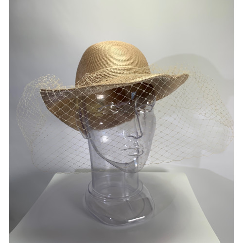 Ladies Church Bow Netting Veil Hat
