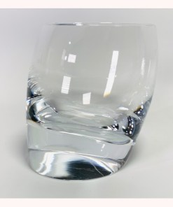 Nambe Tilt Double Old Fashion Crystal Glass 10oz