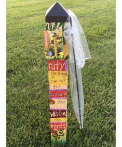 "Serenity Prayer 3' Art Pole by ""Studio M"""