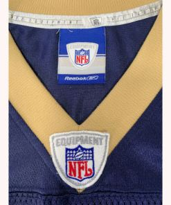 St Louis Rams Marshall Faulk #28 Blue & Gold Sewn Reebok Jersey