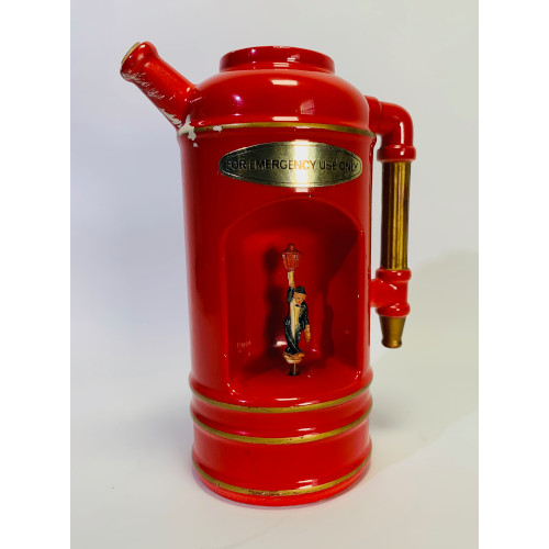 "Vintage ""Thirst Extinguisher"" Red Pitcher Decanter Music Box"