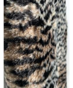 Animal Print Faux Fur Soft Scarf