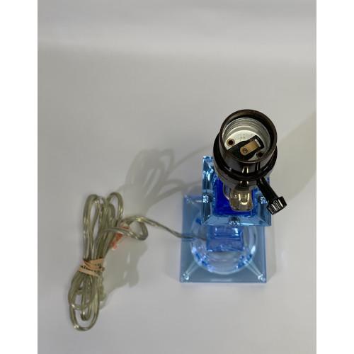 Cobalt Blue Empire Style Lucite Lamp
