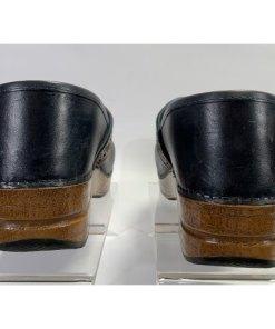 Dansko Pavan Professional Clogs Black W Brown Laser Cut Trim