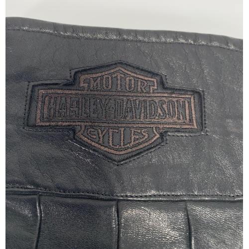 Harley Davidson Men's Leather Gauntlet Riding Motorcycle Gloves
