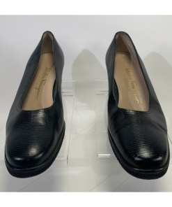 Salvatore Ferragamo Boutique Women Black Leather Wedge Shoes