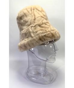 UNITALLA Faux Fur Cloche Bucket Hat RN 42000