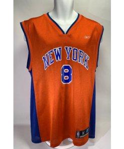 Vintage Latrell Sprewell New York Knicks NBA #8 Home-Game Jersey