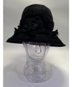 Vintage Women Flower Wool Cloche Felt Hat