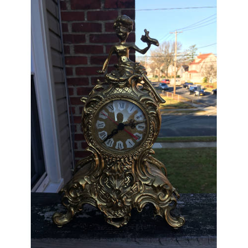 Gold Toned Mantle Clock Made in Germany
