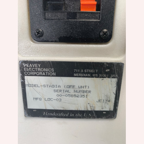 Peavey Stadia Molded Two-Way Loudspeaker Off White