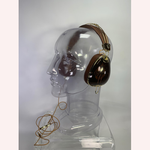 Skullcandy Roc Nation Aviator Headphones Brown & Gold