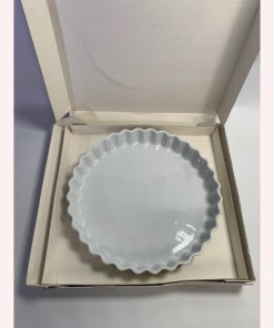 Pillivuyt France Classic White Porcelain Tart Quiche Pan Baking Dish