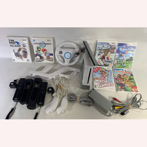 Nintendo Wii Console RVL-001-Bundle White
