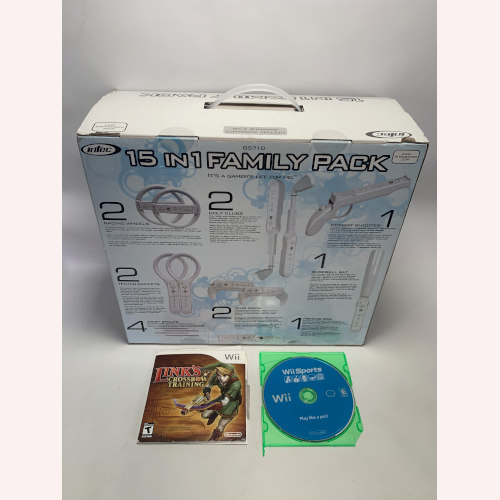 Wii Accessories Compatible 15 In 1 Family Pack Intec G5710